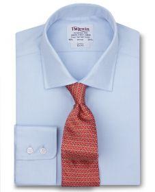 Мужская рубашка синяя T.M.Lewin приталенная Slim Fit (52557)
